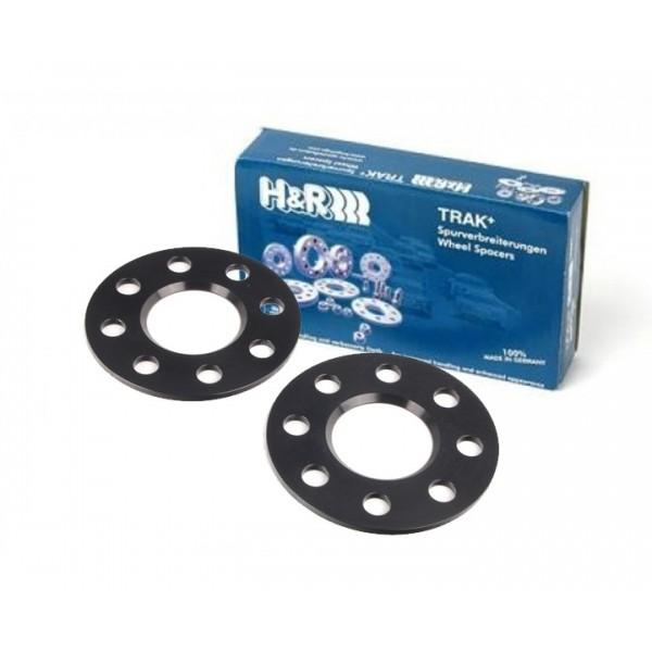 H&R Spoorverbreders 5x100 5x112 57,1 DR10 5mm zwart